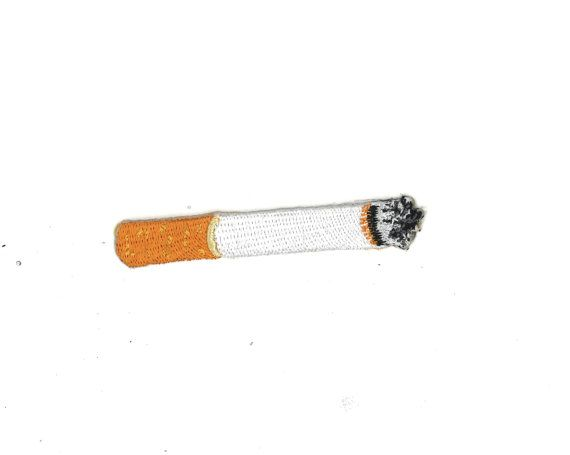 Realistic LIFE-SIZE Iron-on Burning CiGAREttE Patch by PsychoSwami