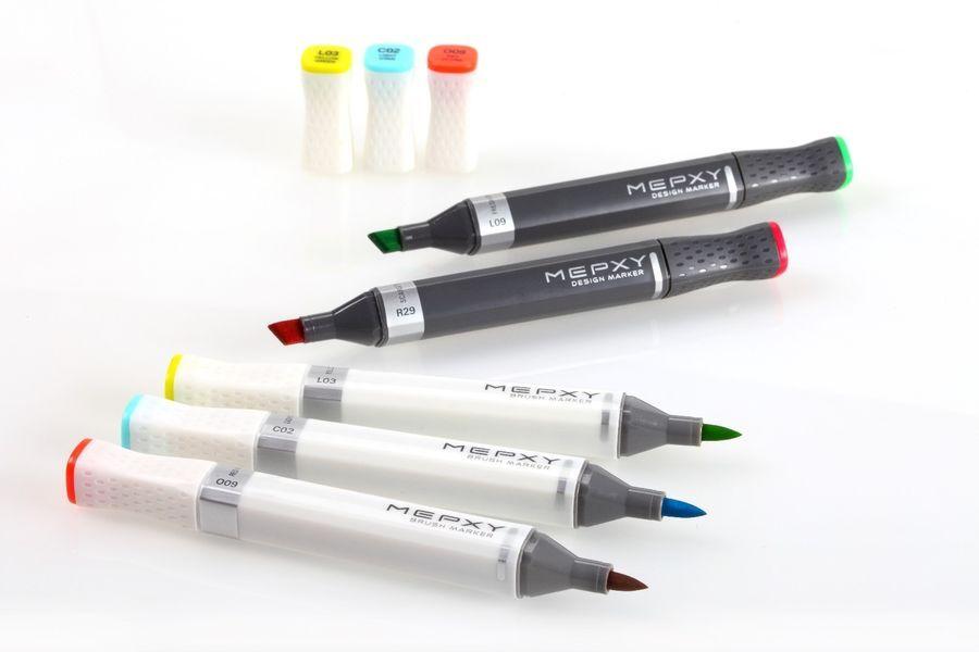 Graphic Art Marker Alpha Brush Marker Twin Tip 60 Colors illustration Animation