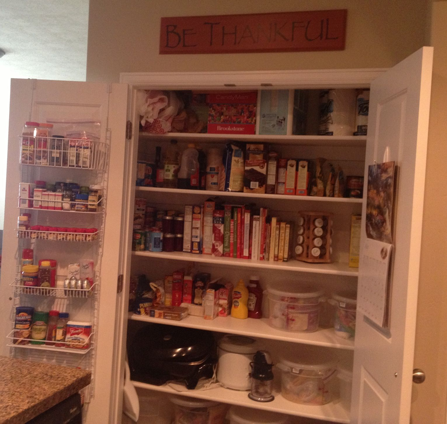 Pantry Organization With Hanging Storage From Bed Bath