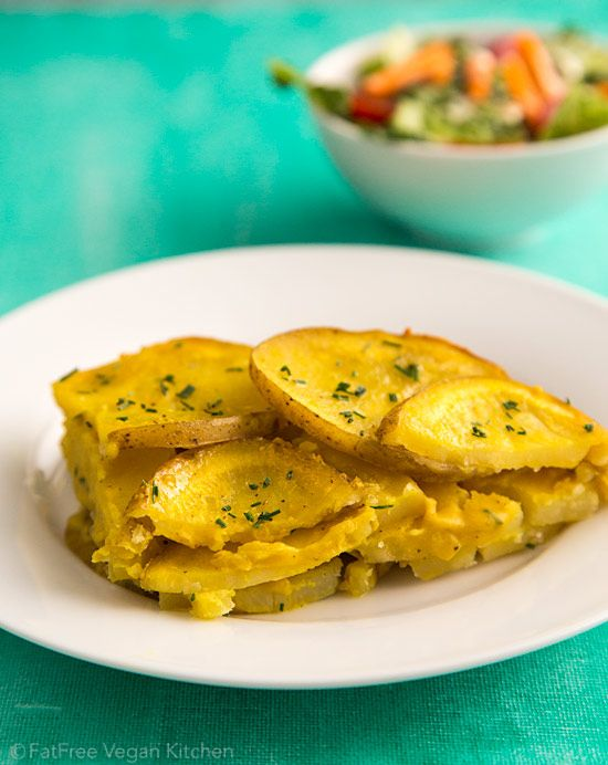 Vegan Scalloped Potatoes With Chickpea Cheese Sauce