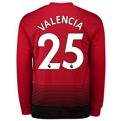 8f98dae8c Manchester United Home Shirt 2018-19 - Long Sleeve with Valencia 25  printing  Manchester