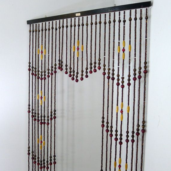 Vintage Wooden Bead Curtain Beaded Curtain Room Divider Hanging