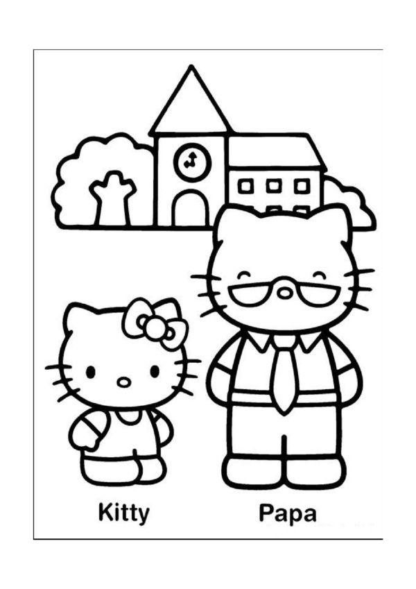 Dibujos para Colorear Hello Kitty 14   hello kitty   Pinterest ...