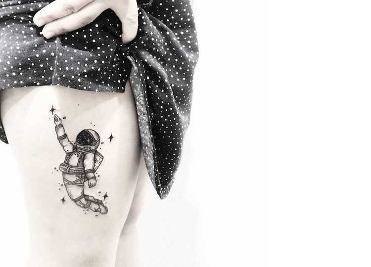 Line Art Tattoos : Illustrator turns her beautiful line drawings into charming tattoos