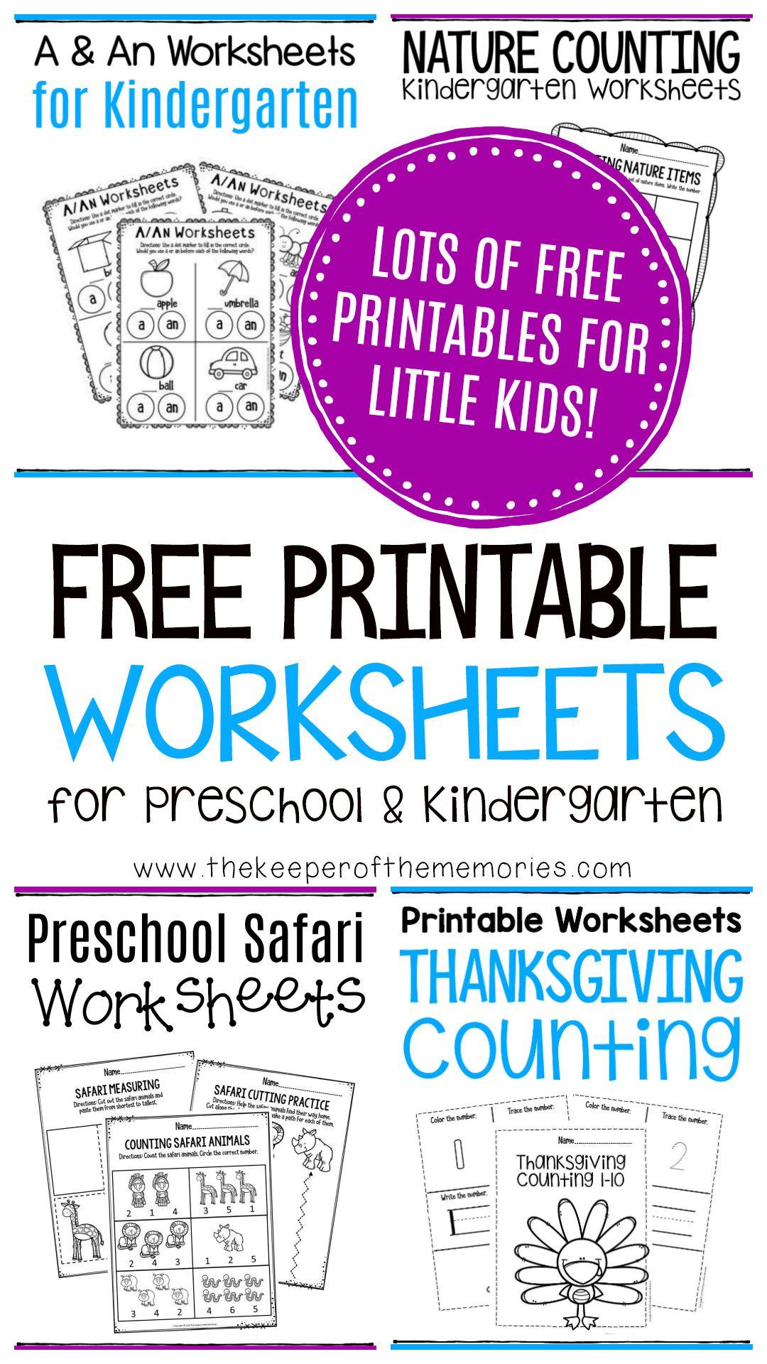 Free Printable Worksheets For Preschool Amp Kindergarten In