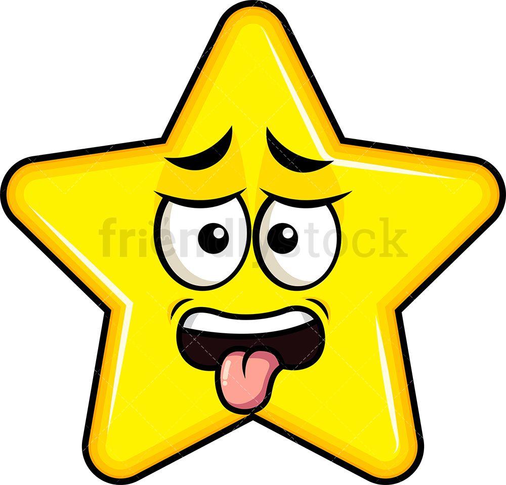 Disgusted Star Emoji Cartoon Clipart Vector Friendlystock Star Emoji Emoji Clipart Cartoon Clip Art
