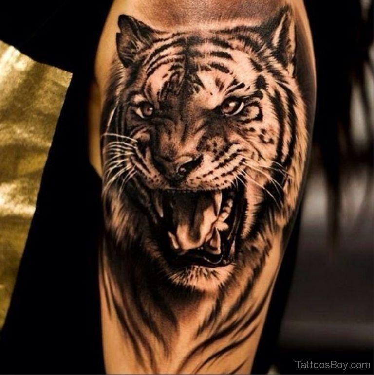 Tiger Face Tattoo Art tiger tattoos tattoo designs  tattoo pictures ...