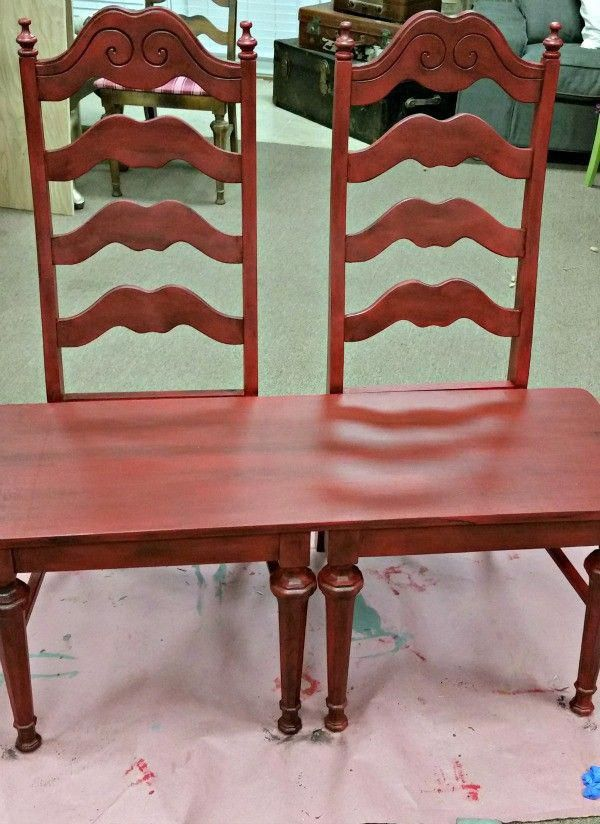 Wondrous Transform 2 Garage Sale Chairs Into A Beautiful Chair Bench Caraccident5 Cool Chair Designs And Ideas Caraccident5Info