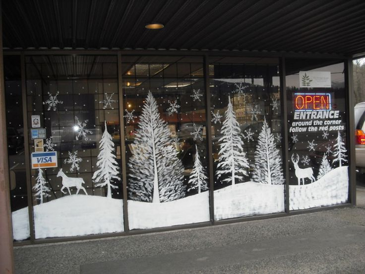 Christmas Window Painting Ideas | Christmas / Holiday #Christmas ...