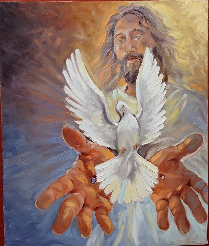 Картинка голубь и иисуса