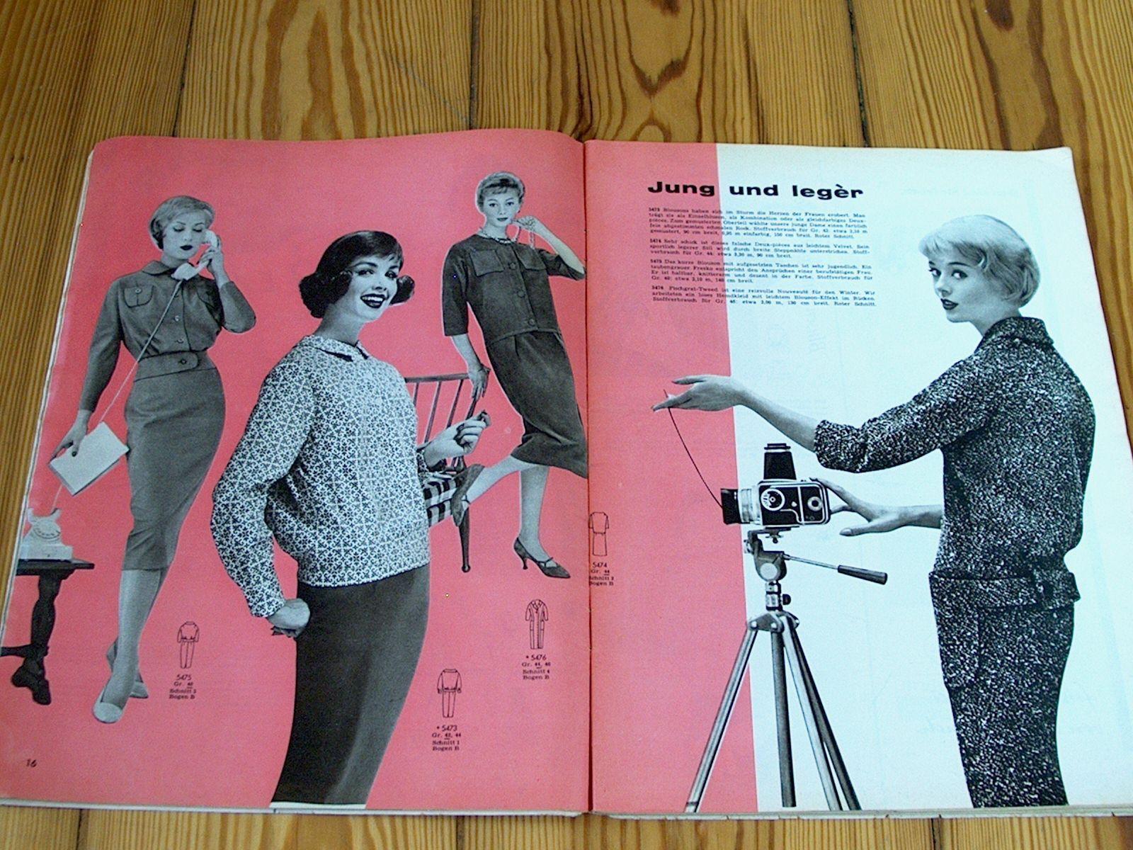 FASHIONS fashion magazine Burda 11 / 1958-2 cutting pattern Bg 50s evening wear | eBay