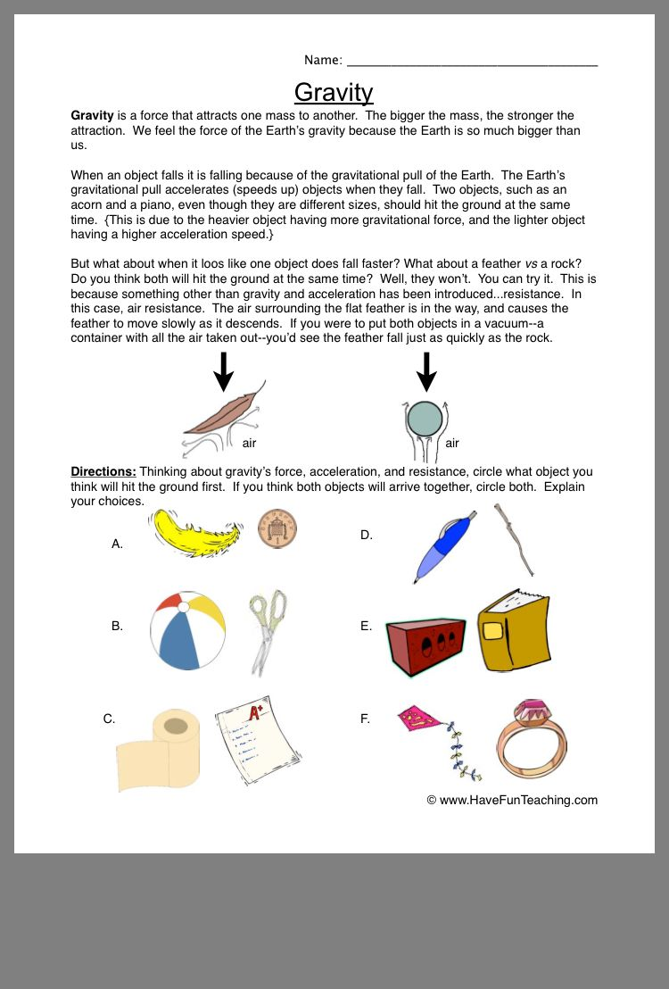 Pin By Lauren Ulmer On Science Homeschooling Homeschool Science Worksheets For Kids Force And Motion