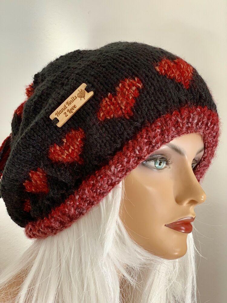 bd73a3b9b8288 Hand Knits 2 Love Hat Slouch Cap Beret Beanie Designer Fashion Hearts  Tassel Hip  HandKnits2Love  SlouchBeanieHatBeretCap
