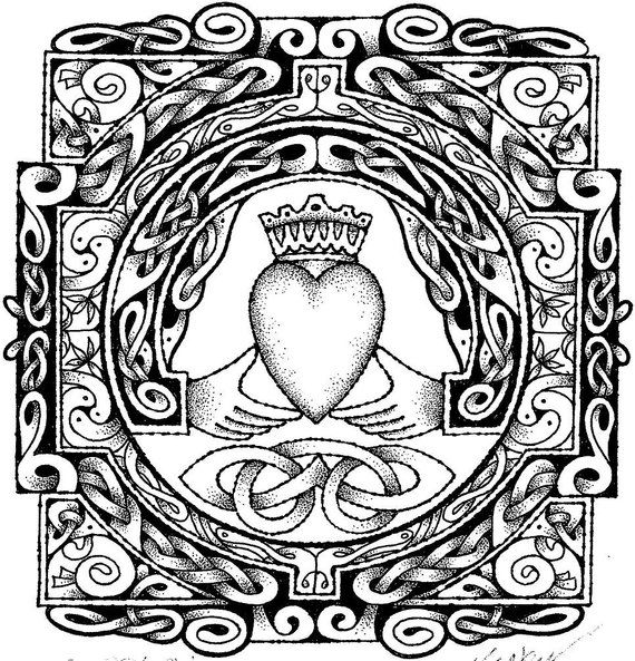 Coloring Page Celtic F C: Irish Art, Coloring
