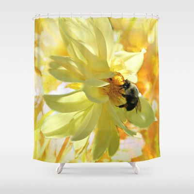 Busy Bumble Bee Shower Curtain By Judy Palkimas 68 00 Bee