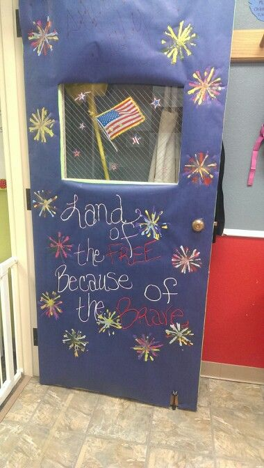 4th of july classroom door decoration ideas