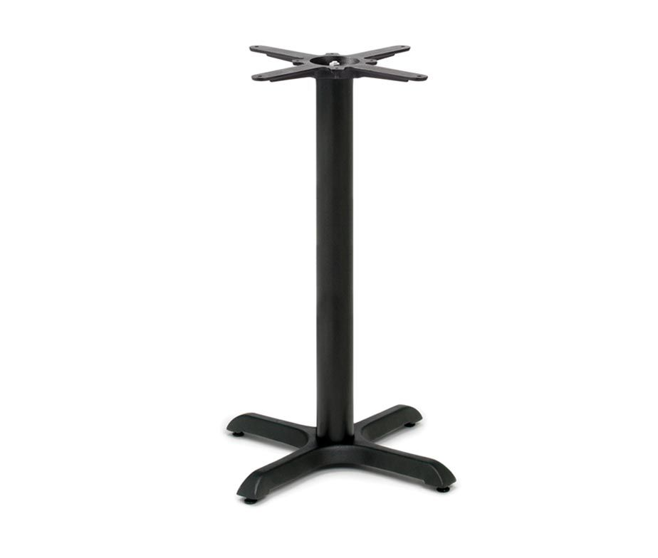 The Durham Small Mid Height table base was designed to be at breakfast bar…