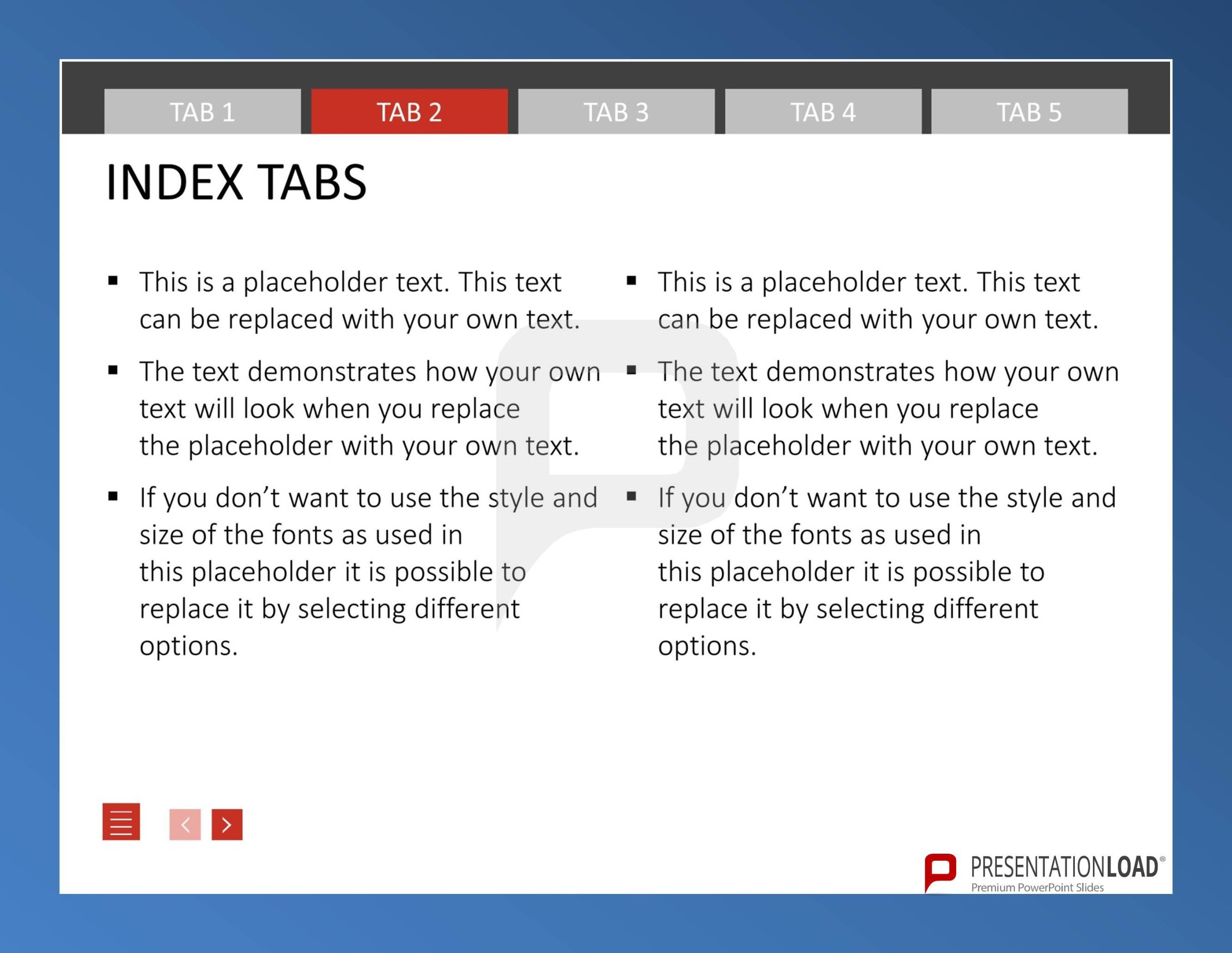 operate quickly in powerpointusing index tab templates and, Powerpoint templates