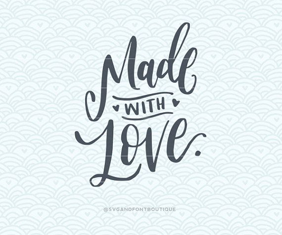 Download SVG Cuttable Vector Made with Love SVG by ...
