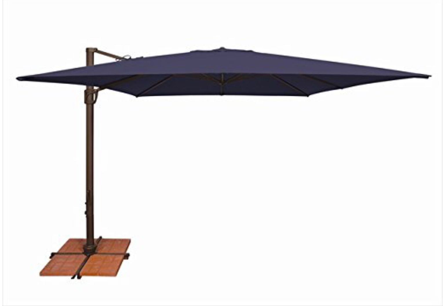 10 Foot Sunbrella Navy 780 Amazon Cantilever Umbrella Offset Patio Umbrella Rectangular Patio Umbrella
