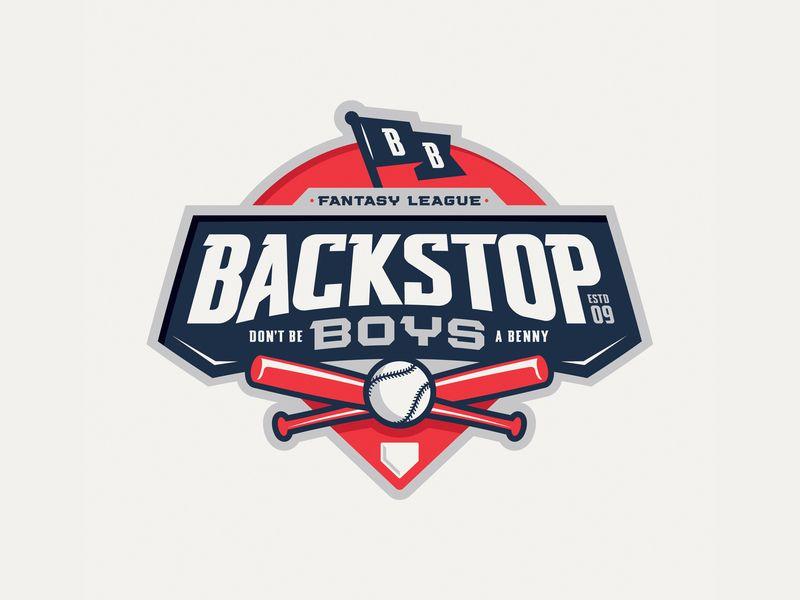 Backstop Boys Fantasy League Fantasy League Logo Design Website Logo Design
