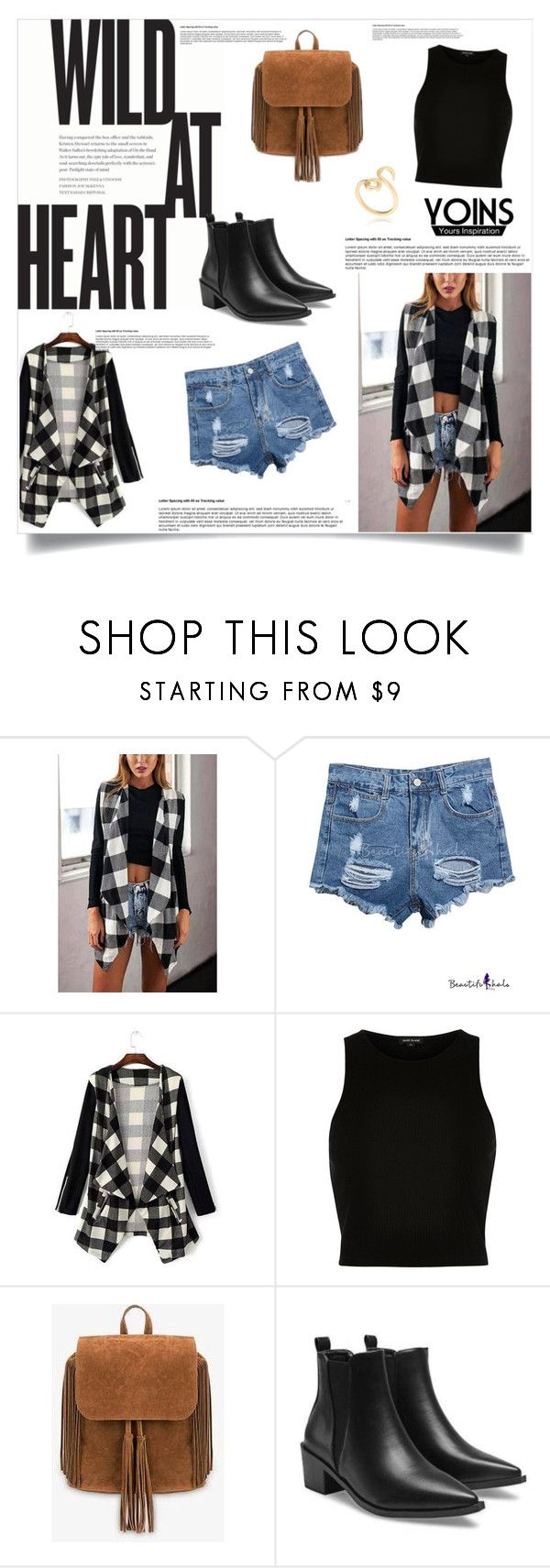 """""""Yoins contest"""" by jasmina-fazlic ❤ liked on Polyvore featuring River Island, women's clothing, women's fashion, women, female, woman, misses and juniors"""