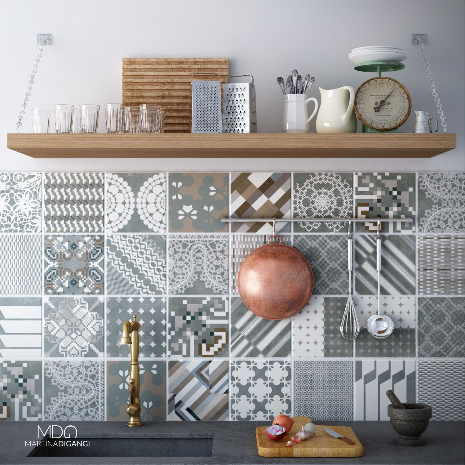 #interior #kitchen #rustic #mutina