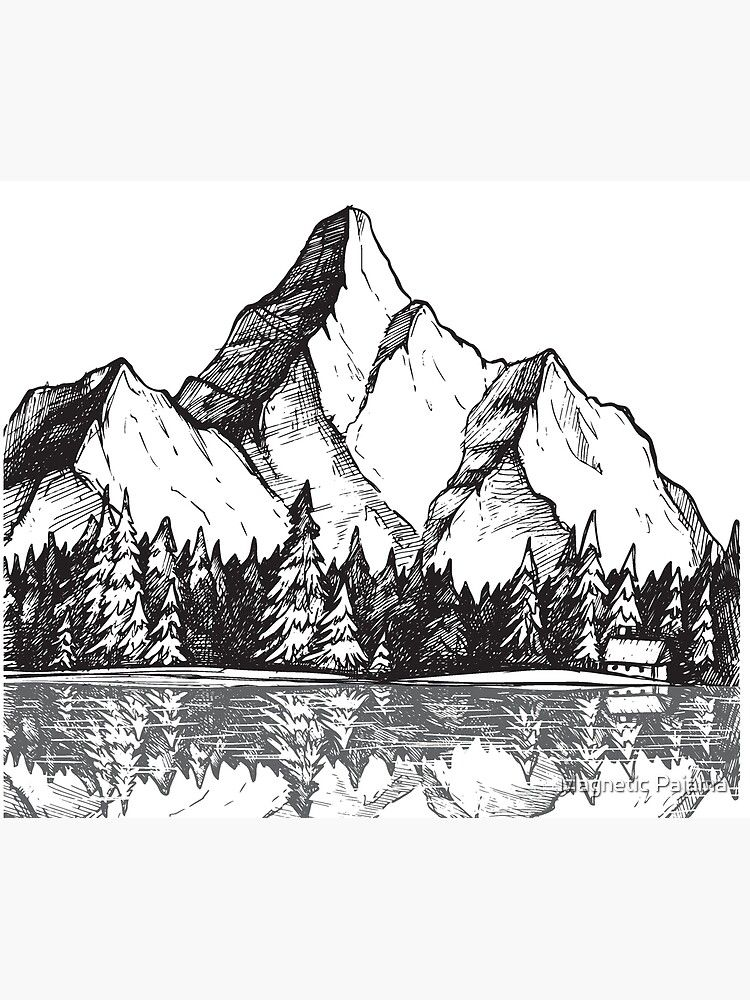 Scenic Mountain With Reflection In Lake Water // S