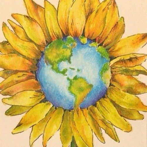 tattoo for the wife she loves sunflowers i love the earth | Hippie ...