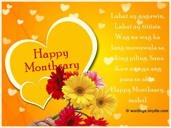 Happy Monthsary Messages In Tagalog It S A Month After You Decided To Seal The Relationship Monthsary Message Message To Your Boyfriend Happy Monthsary Quotes