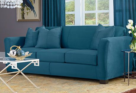 Sure Fit Slipcovers Ultimate Heavyweight Stretch Suede Separate