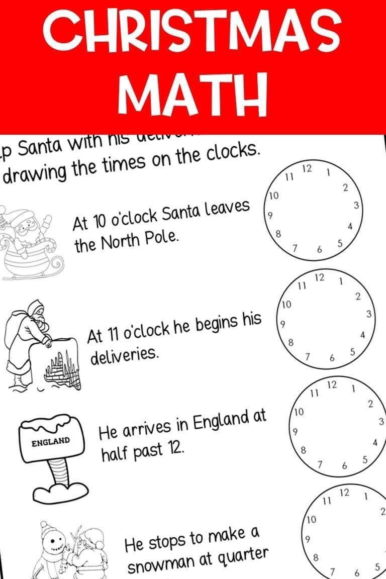 Christmas Math Christmas Math Christmas Math Worksheets Math For Kids