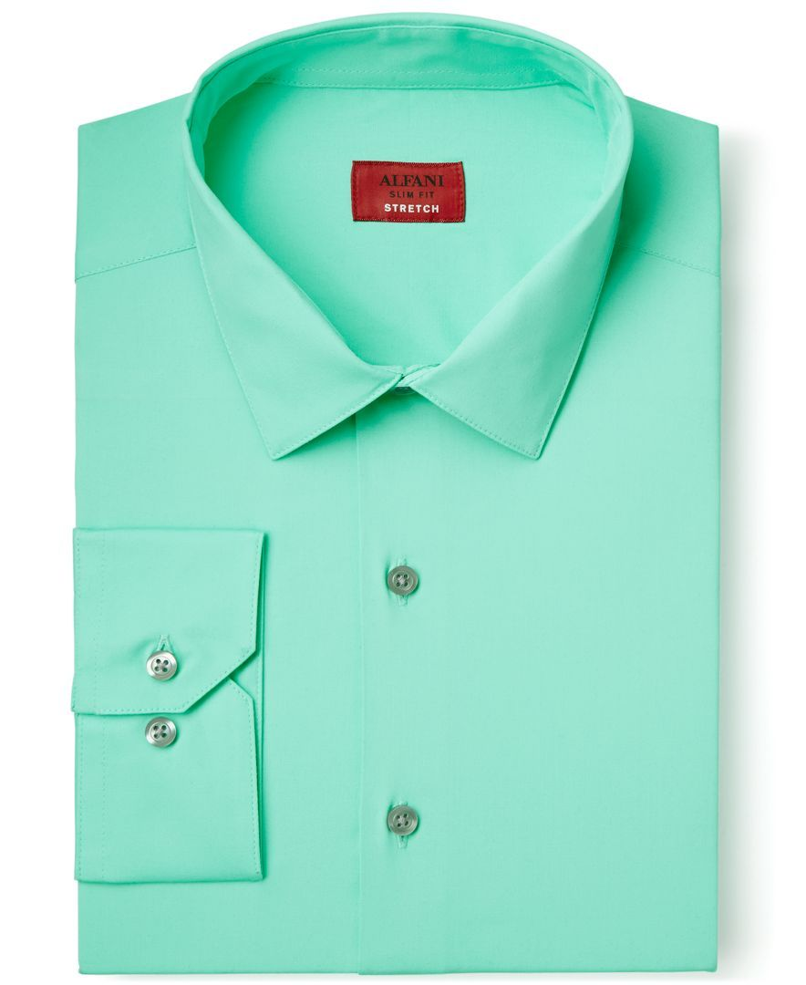 Alfani Spectrum Slim Fit Cascade Mint Dress Shirt Only At Macys