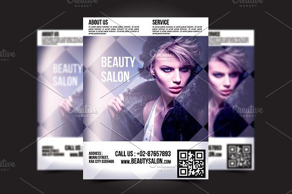 Beauty Salon Flyer Template  Flyer Template Salons And Adobe