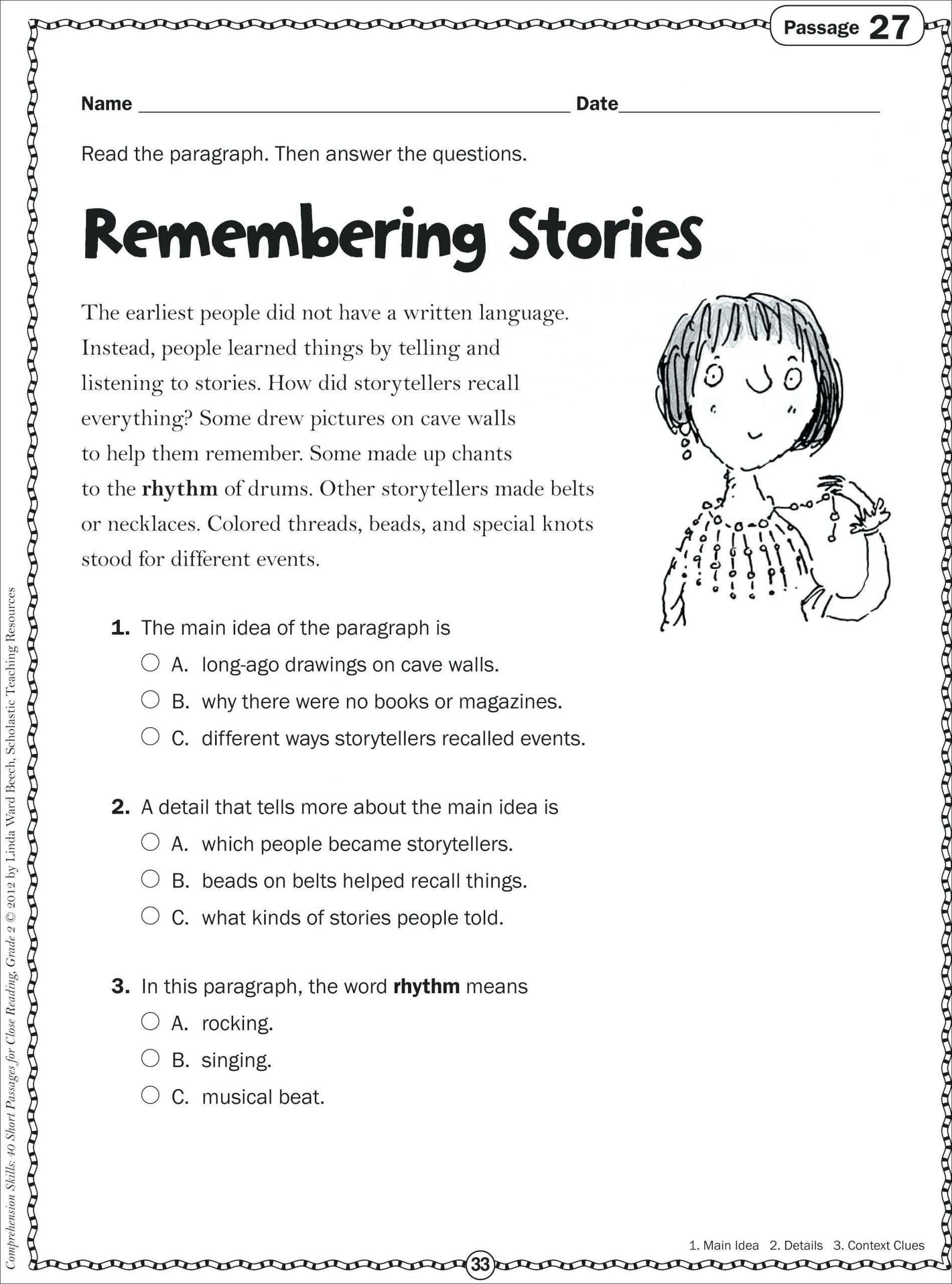 9 Reading Worksheet for Kids Printable   Reading worksheets [ 2560 x 1899 Pixel ]