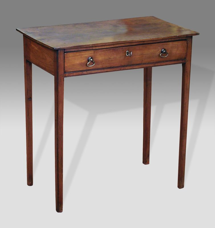 Antique Side Table Small Georgian Fruitwood Side Table With Good Aged Patina Solid Top
