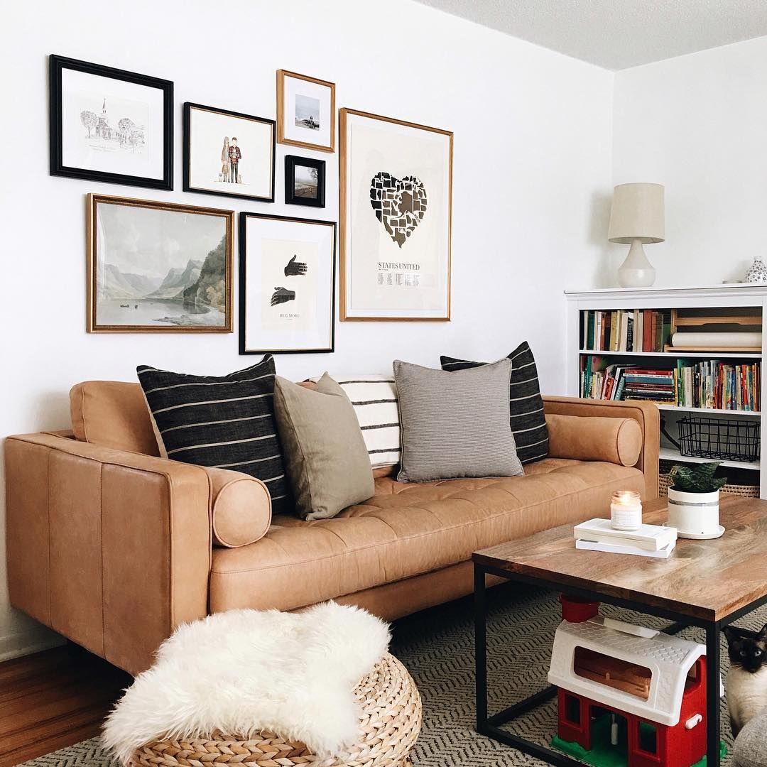 Mix And Match Multiple Frame Styles To Create An Eclectic Varied Gallery Wall This Was Created Using Online Framing With Custom Frames