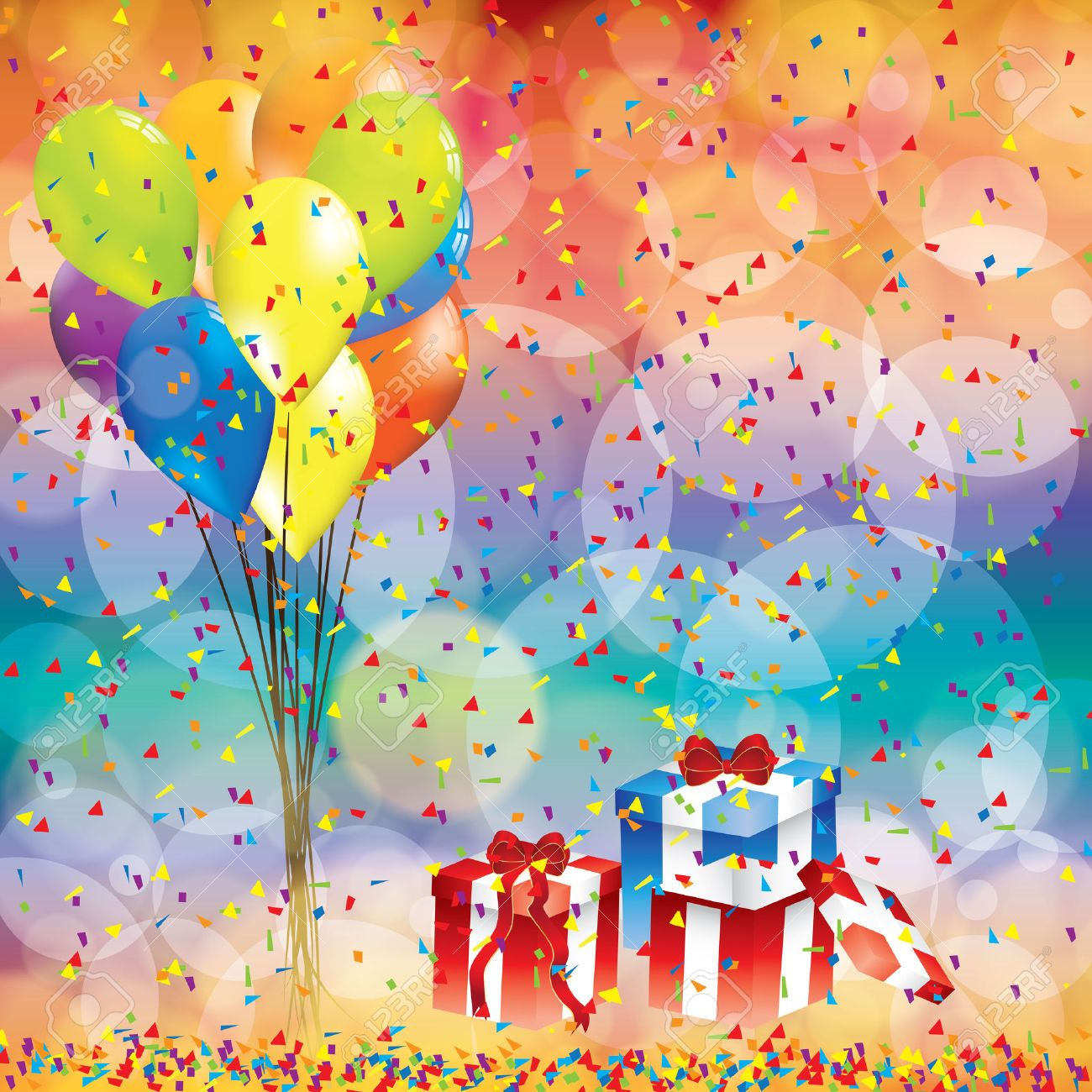 Happy Flowers Birthday Wallpaper Balloons And