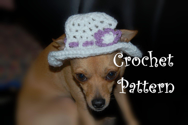 Instant Download Crochet Pattern Floppy Sun Hat For Dogs Etsy Dog Hat Crochet Crochet Patterns