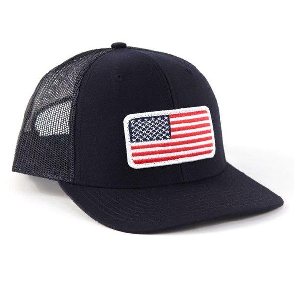 0eddd51c6ea Richardson Twill Mesh USA Snapback Trucker Hat