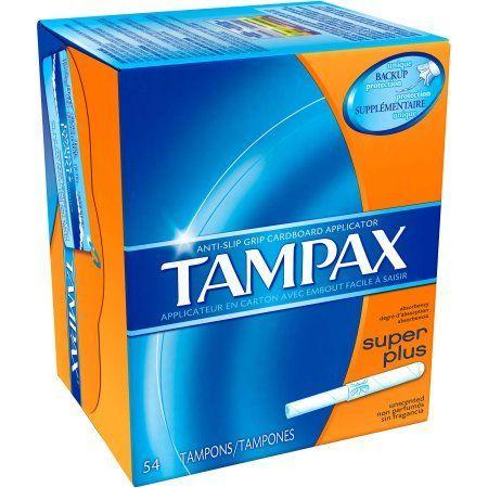 Tampax Cardboard Super Plus Absorbency Tampons Unscented 54 Ct Walmart Com Tampax Tampons Tampax Pearl