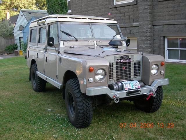 "cummins powered land rover 109"" series"