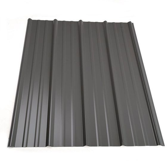 Metal Sales 12 Ft Classic Rib Steel Roof Panel In Charcoal 2313417 The Home Depot Roof Panels Steel Roof Panels Metal Roof Panels