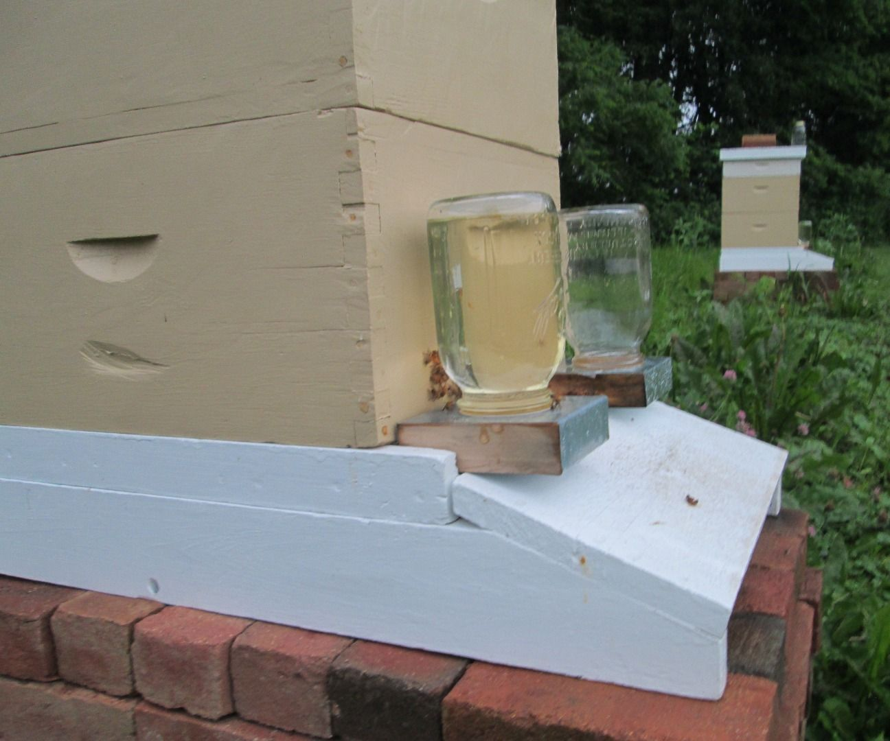 Mason Jar Feeder Boardman Entrance Feeder For A BeeHive