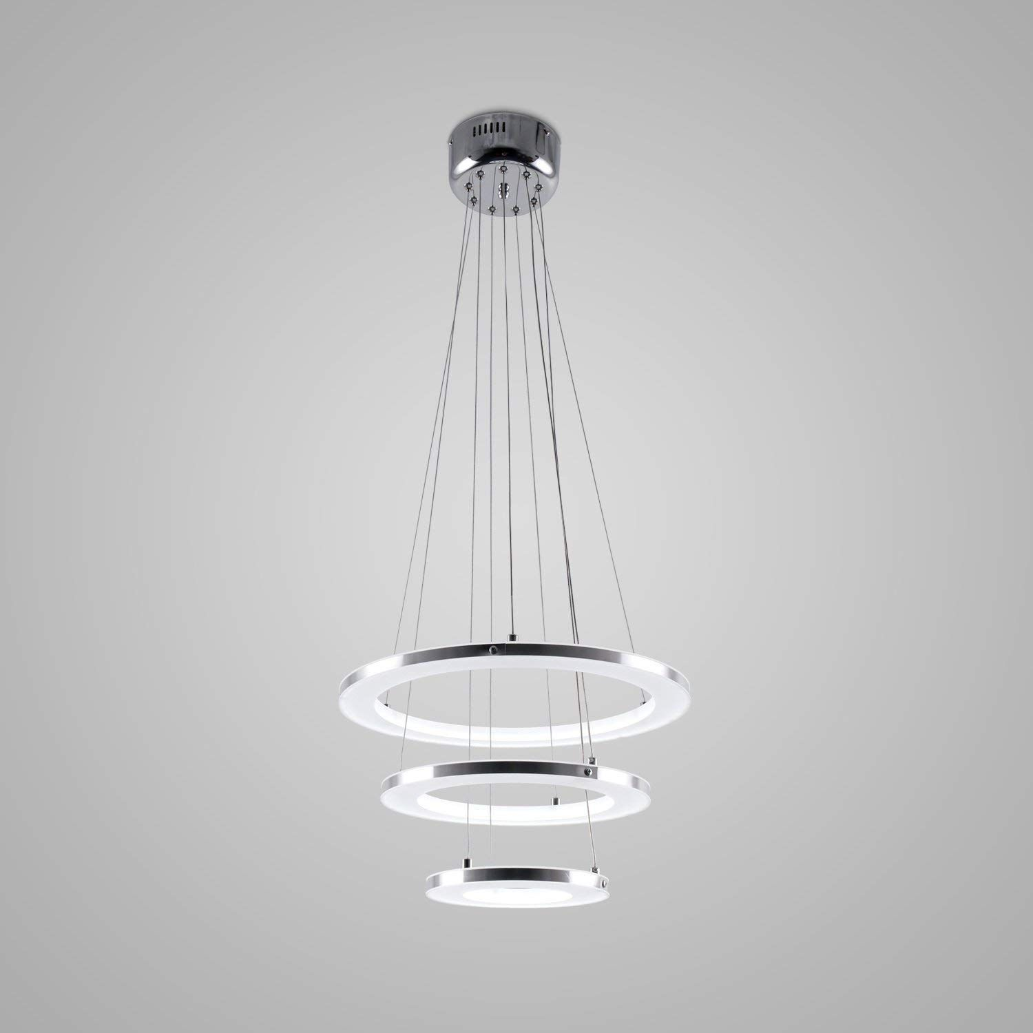 2056b31f022 LightInTheBox® Pendant Light Modern Design LED Living Three Rings ...