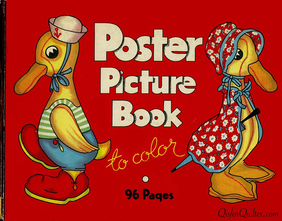 Book color illustrator - Poster Picture Book To Color Peter Mabie Illustrator Whitman Publishing 1934