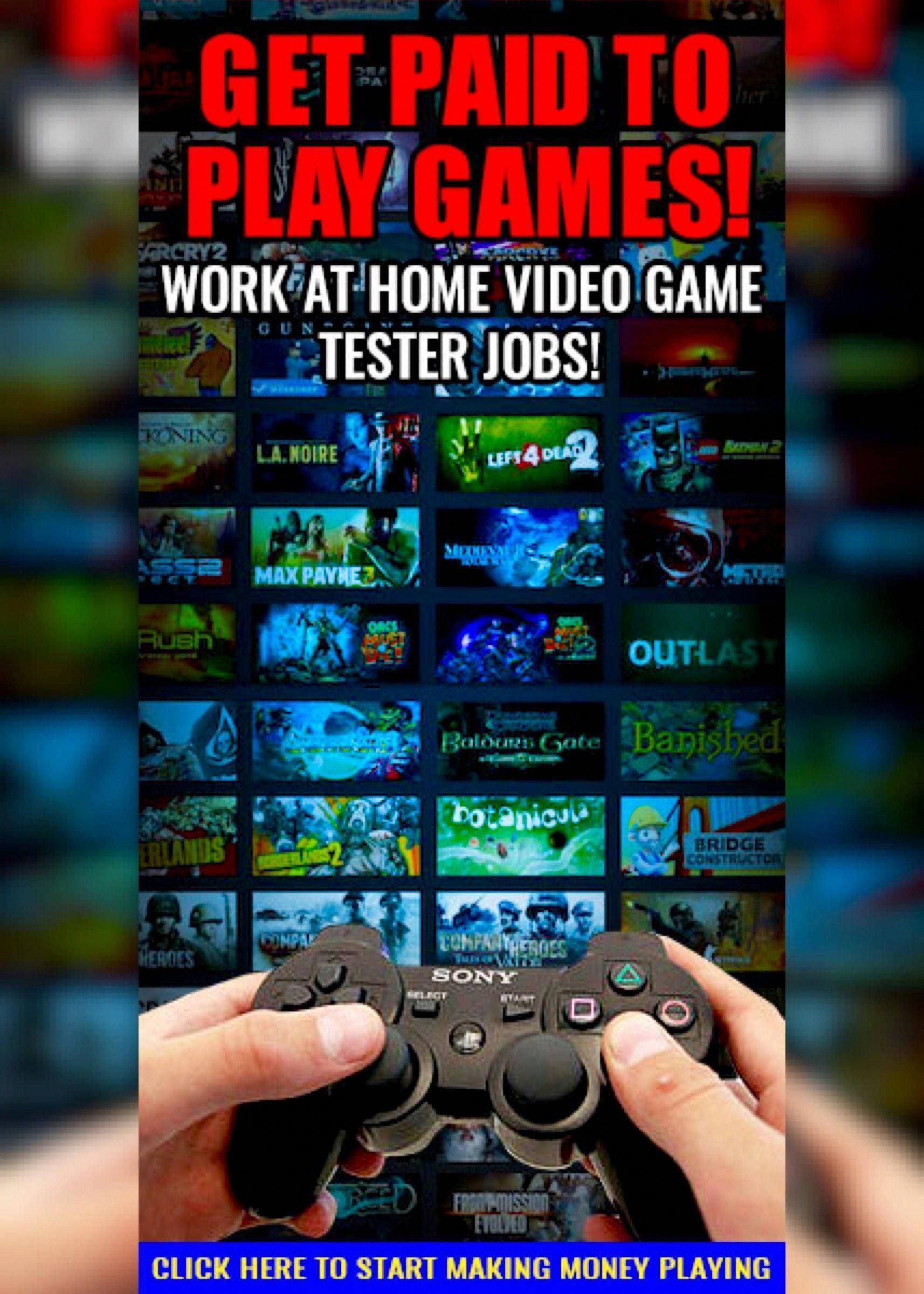 Work From Home Video Game Tester Jobs Start Making Money Playing