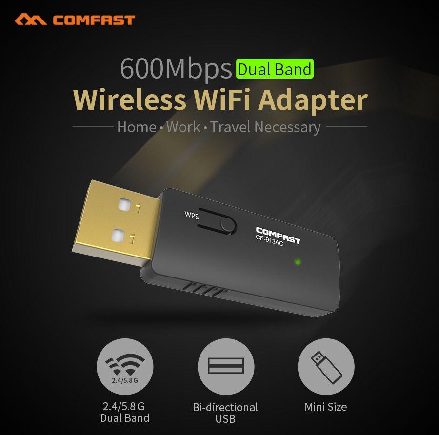 COMFAST 600Mbps USB Wi fi Dual Band 802 11ac/a/b/g/n Wireless N 11AC