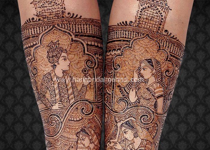 Mehndi For N Brides : Harin dalal amazingly detailed bride groom design mehendi