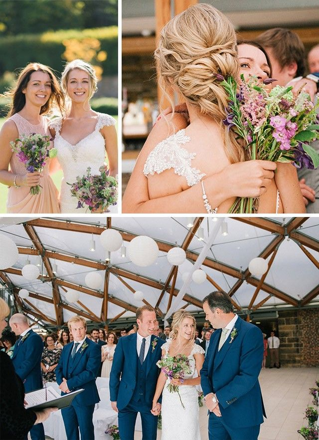 This romantic garden wedding has us swooning and itching to head to Alnwick Gardens in Northumberland, England. Dress by Maggie Sottero. See more on Love, Maggie!
